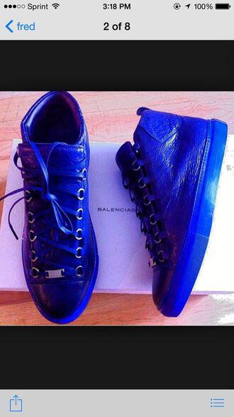 shoes balenciagas balenciaga blue shoes sneakers