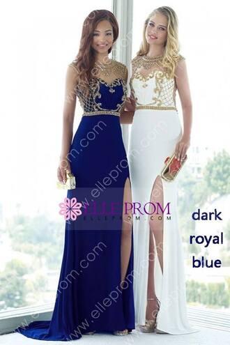 dress evening dress royal bue blue dress