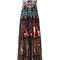 Roberto cavalli multi print long dress, women's, size: 38, cotton/silk