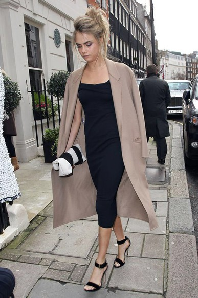 cara delevingne big coat long coat chique classy beige cream camel