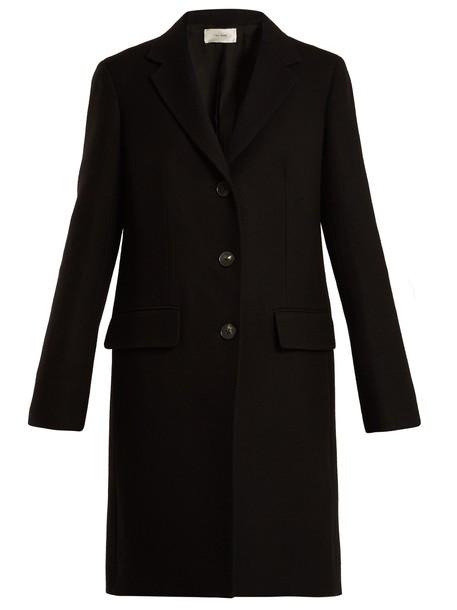 The Row coat wool coat wool black