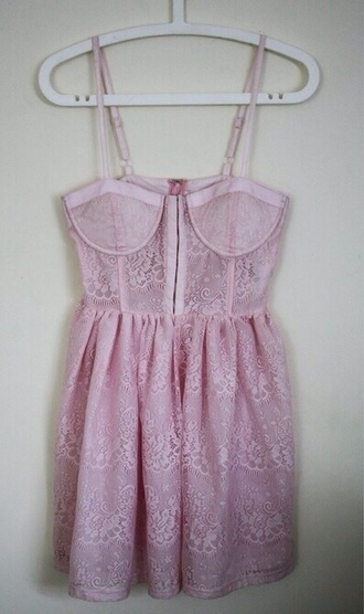 grunge babydoll dress dress cute pink pastel baby light bra bralette girly lovely sweet lolita straps short long blouse top loose tights pattern floral lace white doll
