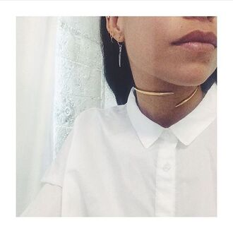 jewels anita k gold collar choker necklace 18k necklace nastygal
