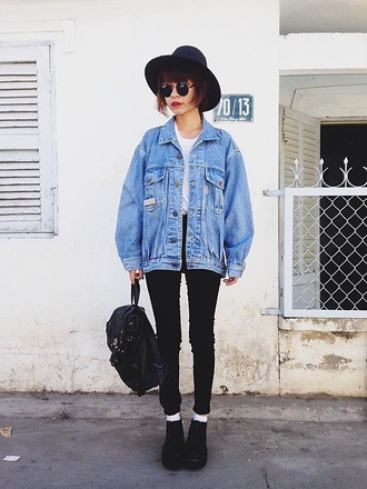 jacket oversized blue jeans jean jackets