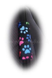 home accessory,seatbeltpads,paw print,car accessories,cute,fleece,paws,multi-coloured