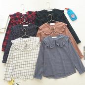 blouse,korean fashion,kpop,kpop shirt,kpop top,checkered,checkered shirt,storenvy,tumblr,kfashion,jfashion,checkered top,checkered blouse,white blouse,pink blouse,cosplay,anime,tumblrtumblr gilr,tumblr girl,tumblr outfit,pastel,storenvy coupon code,dejavucat