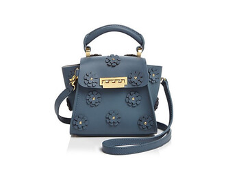 bag blue crossbody bag embroidered crossbody bag zac posen crossbody bag blue bag flowers floral