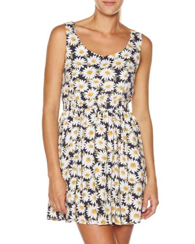Minkpink daisy chain tie back dress