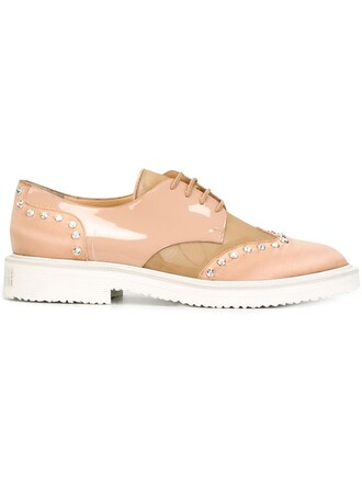 embellished shoes lace-up shoes lace nude