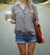 shirt,hipster,gingham,spring outfits,shorts
