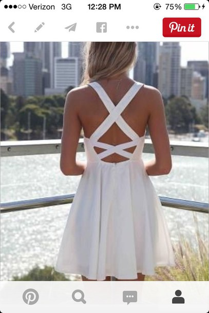 dress backless dress summer dress white dress style
