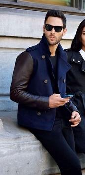 jacket,menswear,mens jacket,pea coat,sunglasses,coat,banana republic