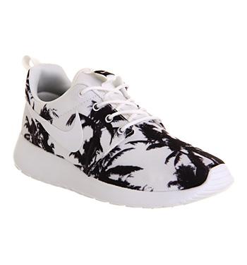 Nike Roshe Run White Black Palm Print Exclusive - Unisex Sports
