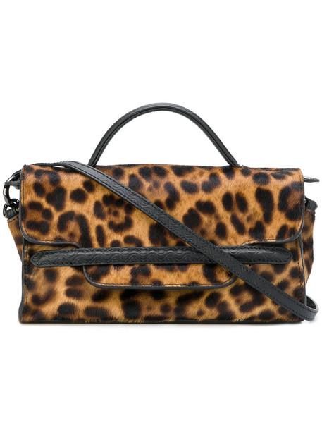 mini hair women print brown leopard print bag