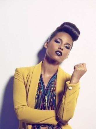 blouse blazer yellow alicia keys vintage