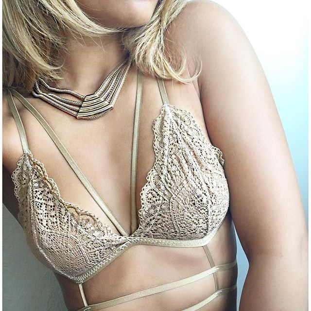 Gold willow bralette