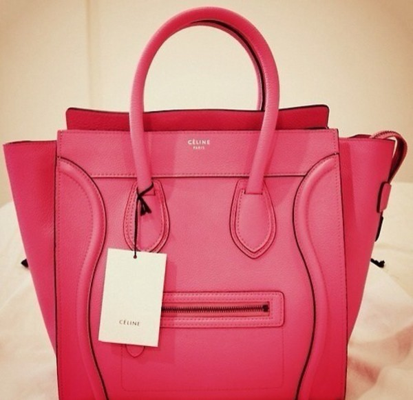 bag pinkpurse bigbag pinkbag celine bag color/pattern bigpurse