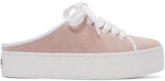 sneakers lace suede pink shoes