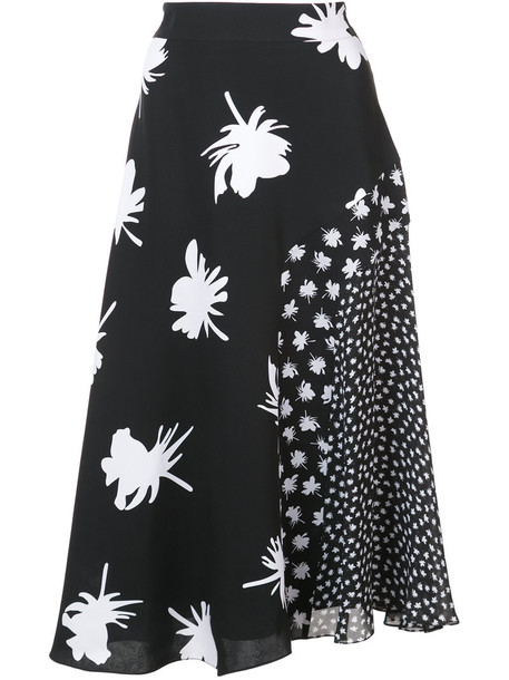 Prabal Gurung skirt women floral black silk