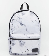 bag,cool,marble,white,pretty,backpack,school bag,asos,summer,new