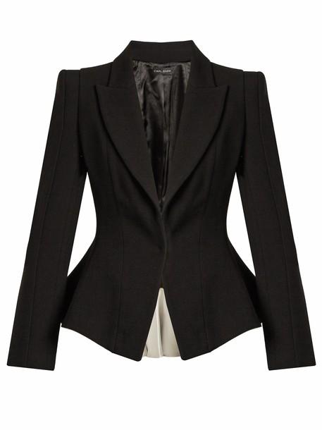 CARL KAPP jacket wool jacket infinity wool black