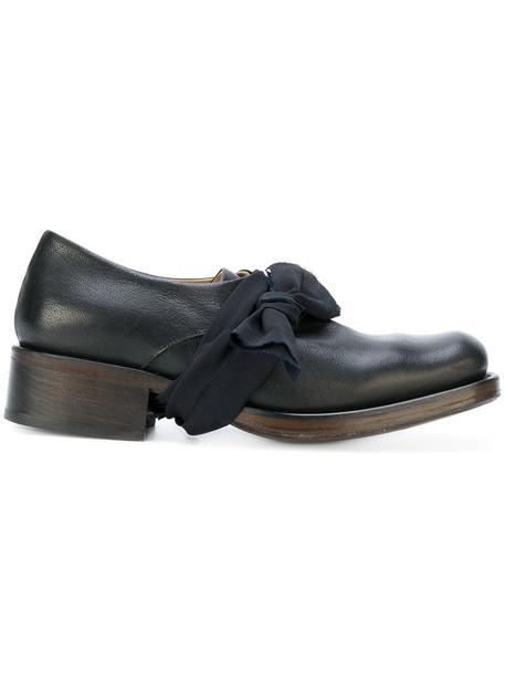 Cherevichkiotvichki women loafers leather black shoes