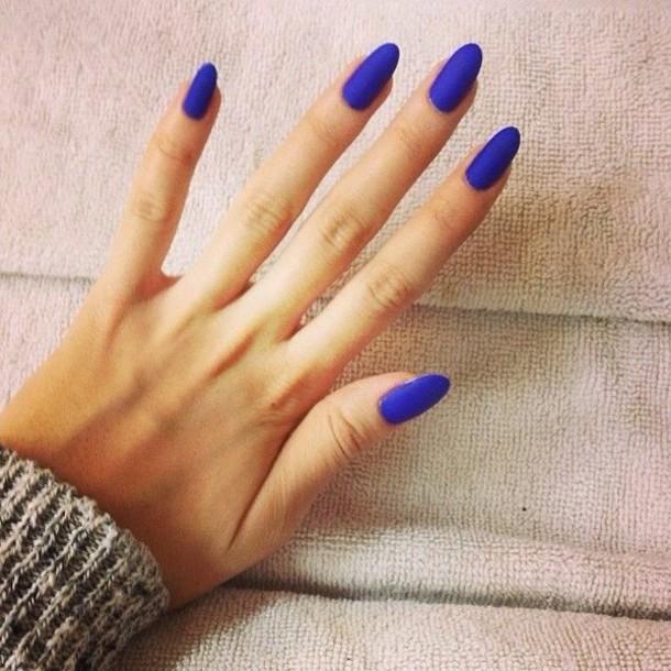 nail polish, blue, matte - Wheretoget