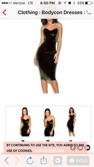 dress midi dress green dress