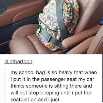 bag marvel comics backpack school bag