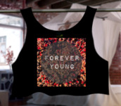 top,forever young,summer top,outfit,floral,floral top,floral crop top,cute crop top,t-shirt,official tops,one direction,newf,ashions,style,forever young t-shirt,forever 21,summer outfits