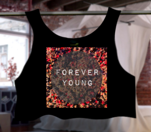 top forever young summer top outfit floral floral top floral crop top cute crop top t-shirt official tops one direction newf ashions style forever young t-shirt forever 21 summer outfits