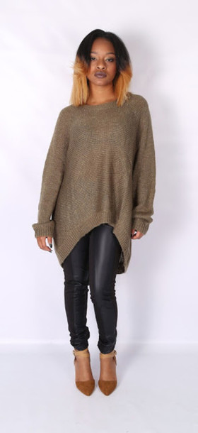 sweater olive green