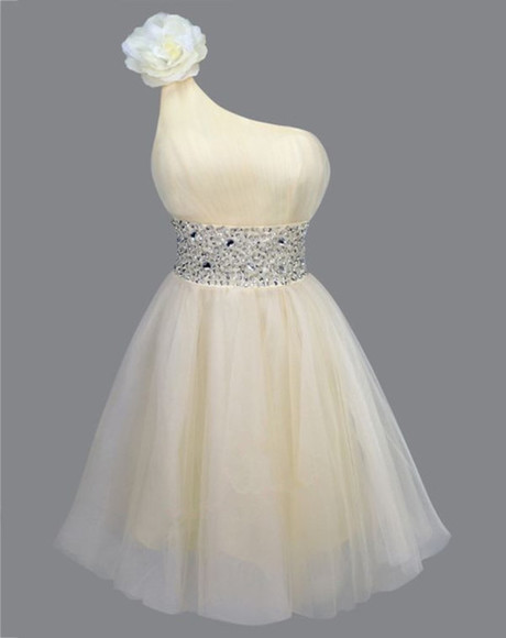prom dress white dress one shoulder prom dress homecoming dress short prom dresses prom