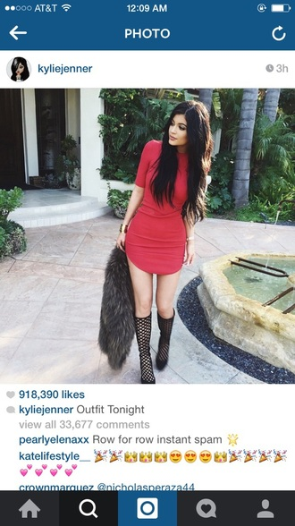 dress kylie jenner dress kylie jenner red celeb shoes red dress keeping up with the kardashians red carpet dress prom dress prom gown beautiful red dress high heels red tight dress kylie jenner kylie jenner shoes style