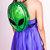 Alien Clear Green PVC Clubkid Backpack