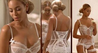 underwear sheer white lingerie one piece on beyonce