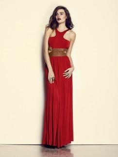 Kuku wine & dine dress in red