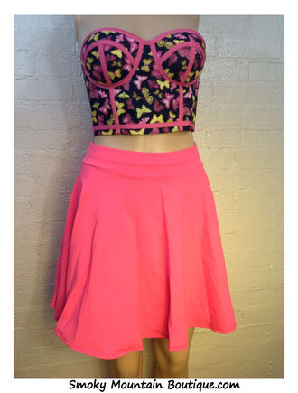 skirt top butterfly