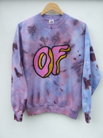 jacket ty dye tie dye hoodi of odd future wolf gang creator colors donut sweatshirt