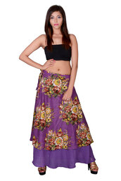 skirt,tulle skirt,flower skirt,layered skirt,fancy skirt,purple skirt,stylish skirt,hippie skirt,flare skirt,gypsy skirt,wrap skirt,long skirt,side knot skirt