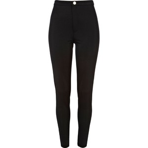 River Island Black wet look tube pants - Polyvore