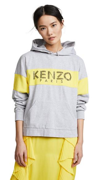 hoodie oversized pale grey sweater
