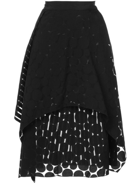 Dvf Diane Von Furstenberg skirt midi skirt ruffle women midi black