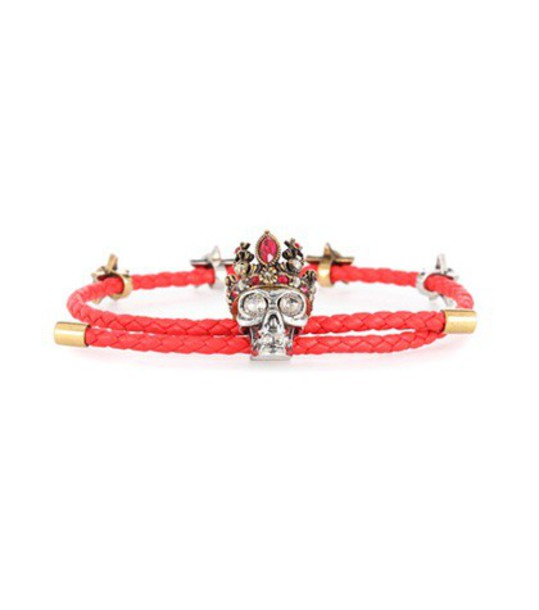 Alexander Mcqueen leather red jewels