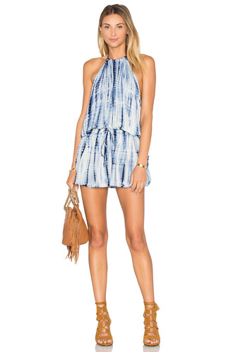 dress halter dress blue