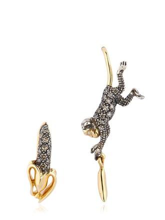 monkey earrings rose gold rose gold jewels