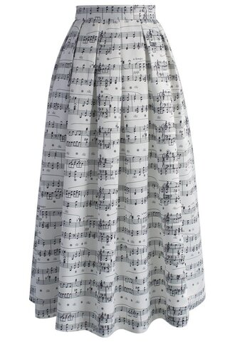 skirt dance with music notes maxi skirt maxi skirt dance music retro unique style