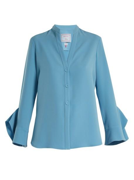 DOVIMA PARIS blouse blue top