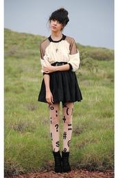 sheer,black,fur,cream,autilia,black sweater,brown sweater,sweater