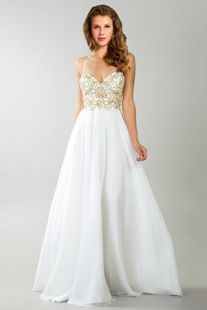 dress whiteandgold wedding dress